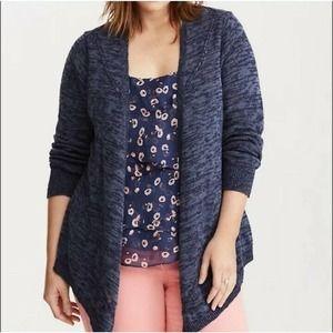 Torrid Needle Stitch Draped Open Cardigan Size 4X